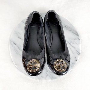 Tory Burch Patent Leather Slip On Flats